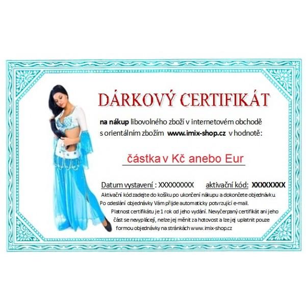 Dárkový certifikát - motiv tanečnice
