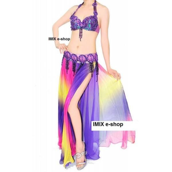 Kostým ASSIA s duhovou sukní  č.SK003