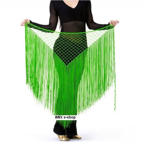Síťový šátek s dlouhými třásněmi č.C001