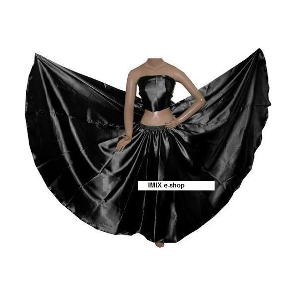 Kolová saténová sukně GHALIYAH na míru