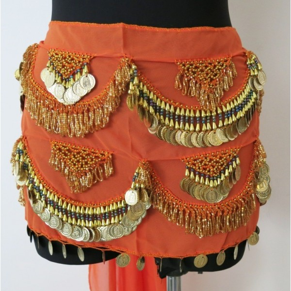 Egyptský šátek penízkový AMBER