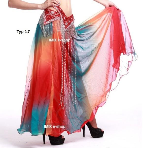 Duhové hedvábné sukně ASSIA