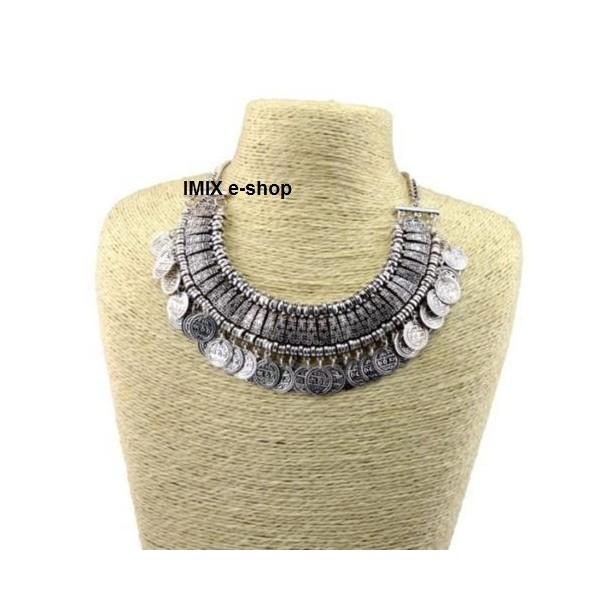 Mohutný penízkový náhrdelník