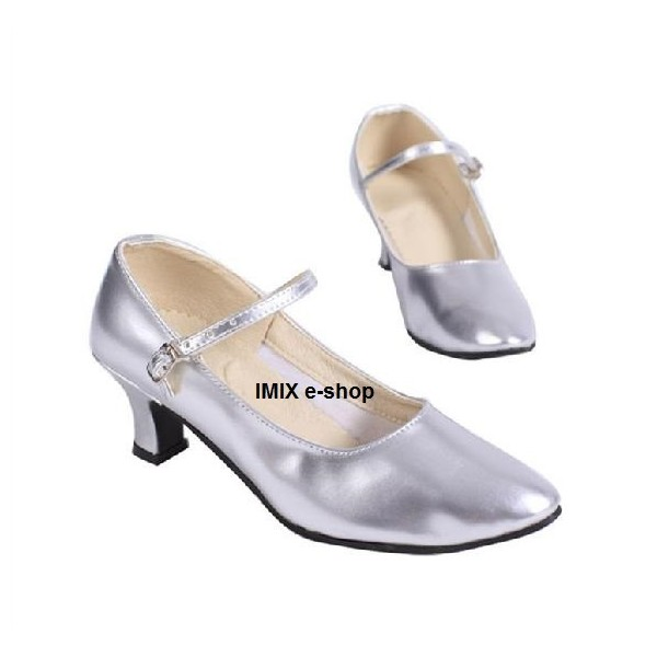 Taneční boty na podpatku s koženou podrážkou - PLNÉ
