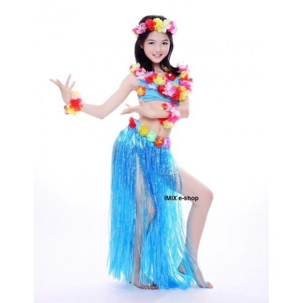 Dívčí Havajský kostým HULA HAWAII - set (5 kusů)