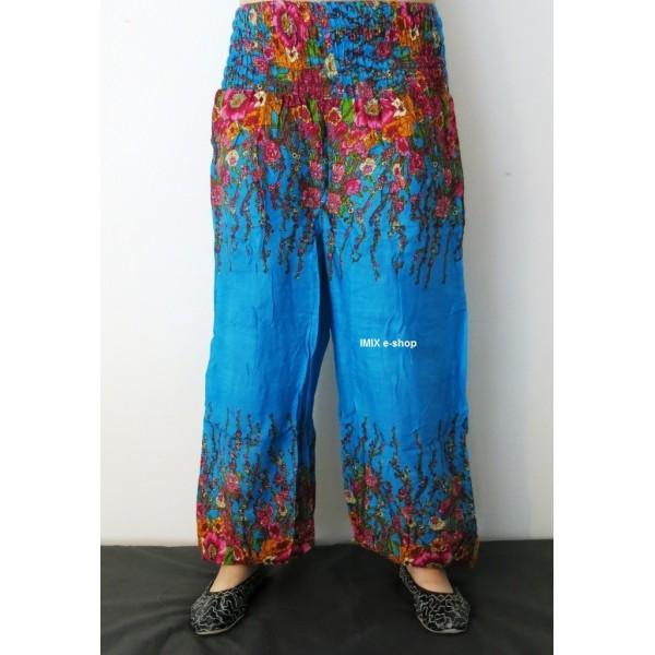 Harémové kalhoty sultánky - KVĚTINOVÝ MOTIV
