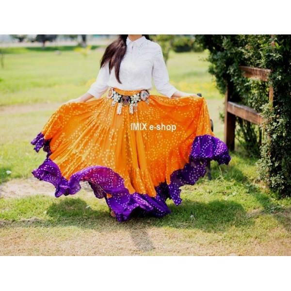 Orientální široká sukně JAIPUR 22 metrů