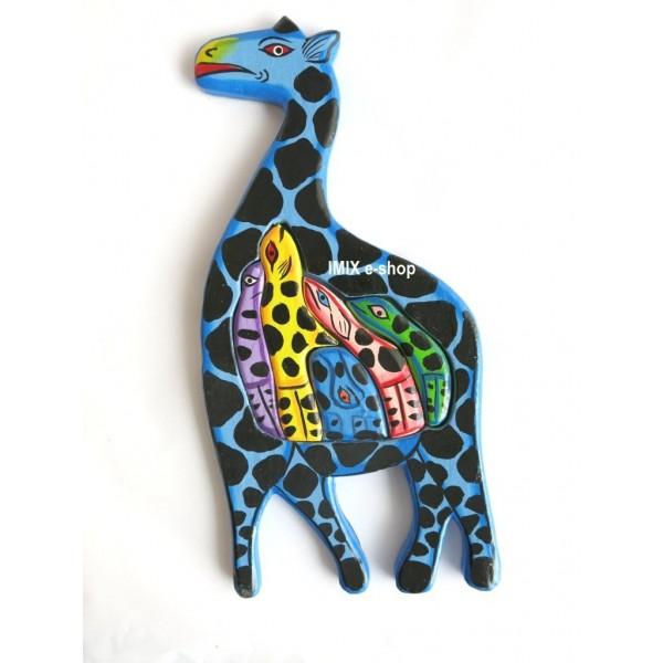 Dřevěný hlavolam,puzzle ŽIRAFA