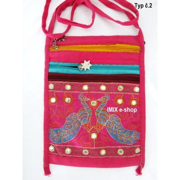 Indická taška přes rameno s výšivkou