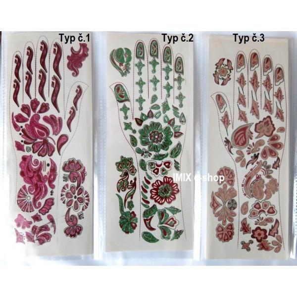 Indické tetování na ruku