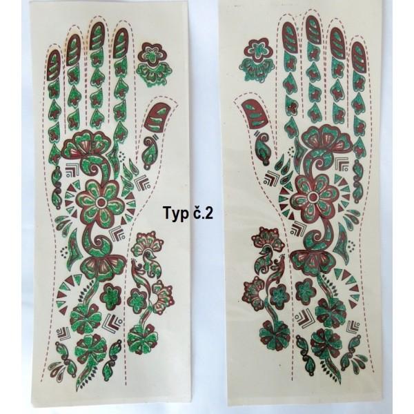 Indické tetování na ruce PÁR