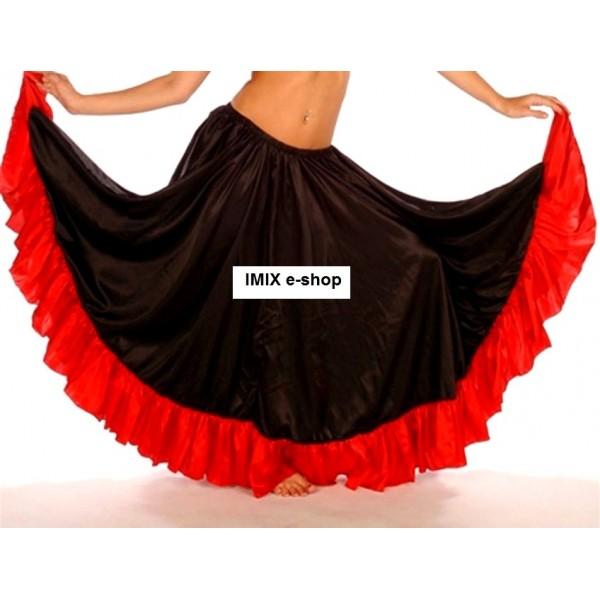 Saténová Flamenco sukně s volánem
