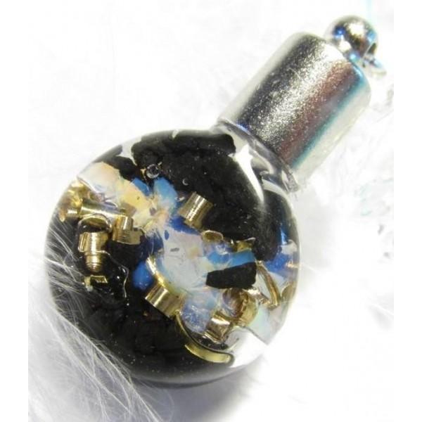 Orgonit mini lahvička - Opalit & šungit