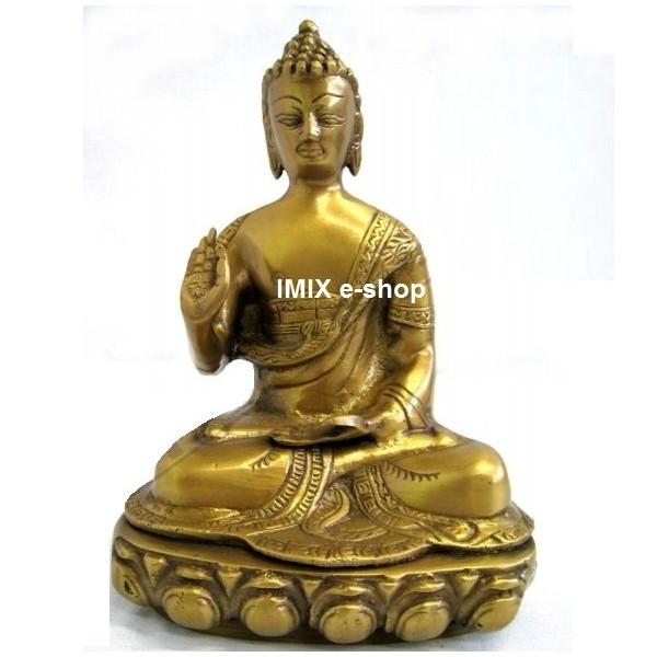 Soška Buddha zlatá 24 cm