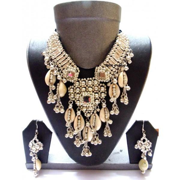 Tribal náhrdelík set z mušlí č.IT056