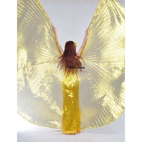 Křídla ISIS zlaté průsvitné