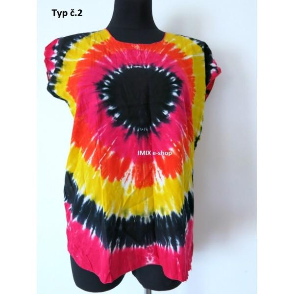 Batikované bavlněné trička
