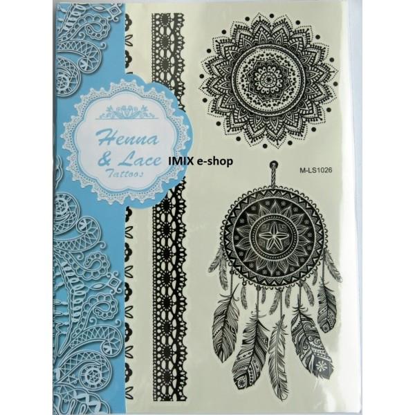 Tetování černá Henna a krajka č.17