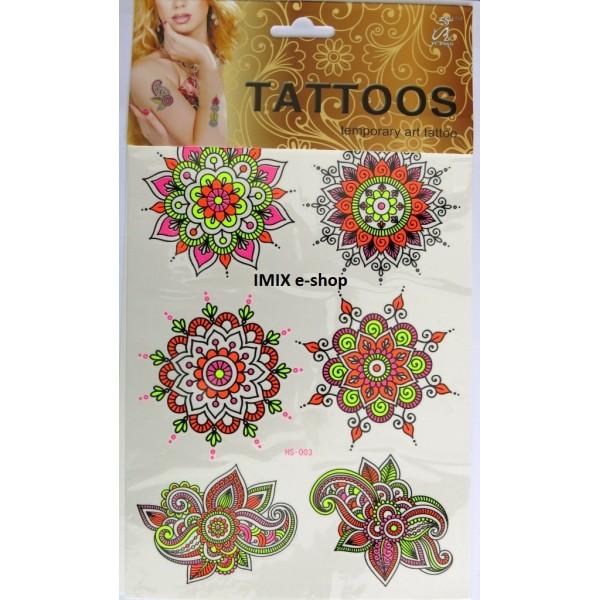 Nalepovací tetování RAZÍCÍ orient tvary č.20