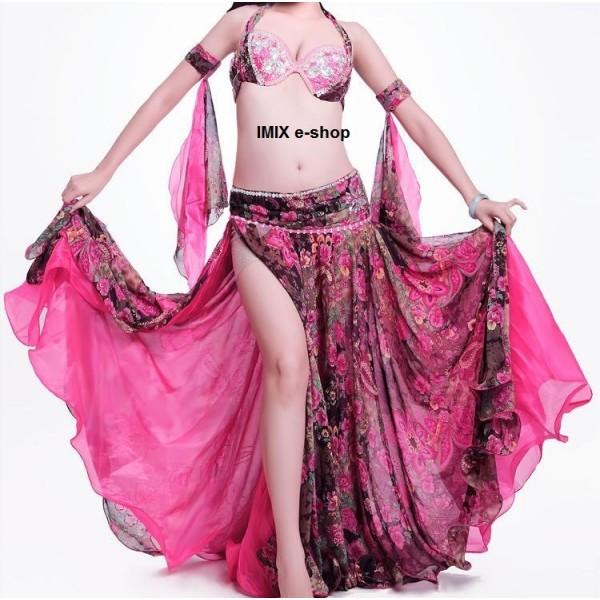 Květinový taneční kostým (set 4 ks) Kalila - více velikostí