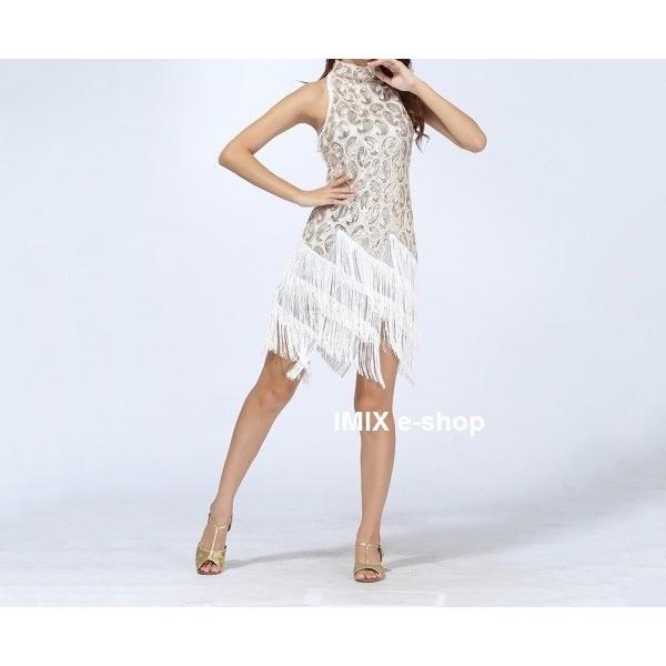 Krátké taneční třásňové šaty Adelina