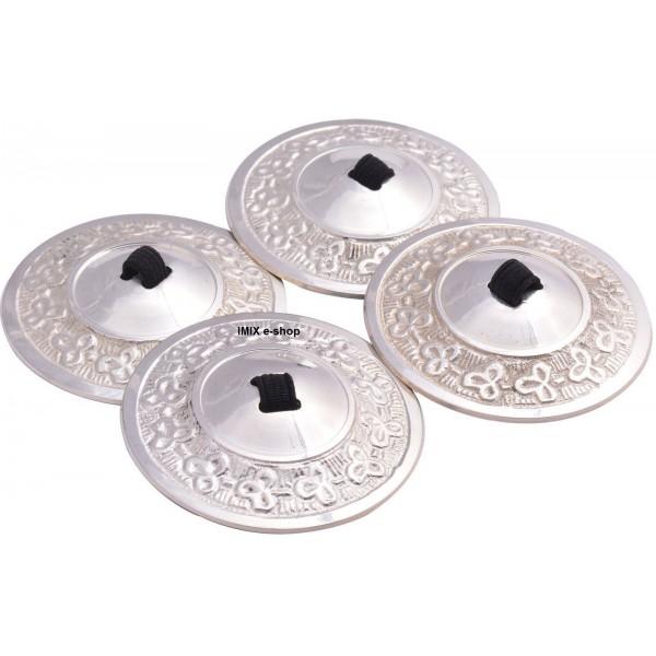 Činelky prstové Profi - set (4 ks) stříbrné