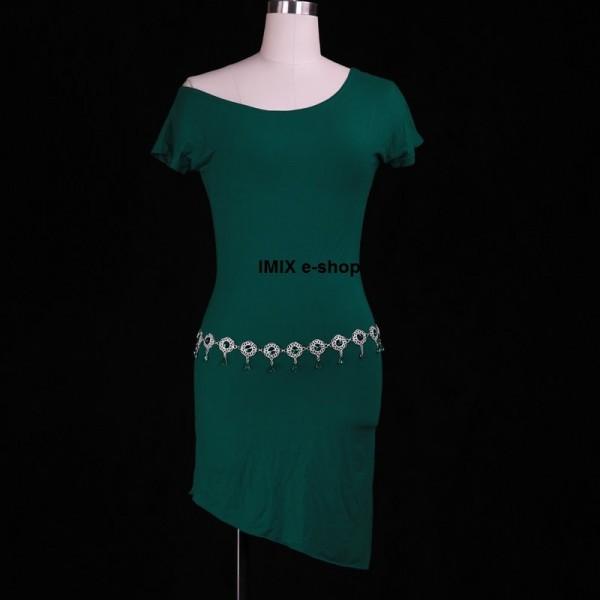 Taneční krátké elastické šaty