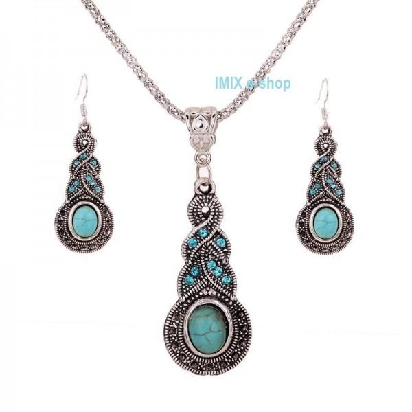 Set náušnice a náhrdelník se zirkony