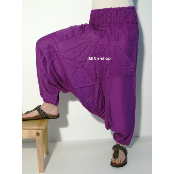 Aladinky kalhoty bavlněné nízký sed s kapsami