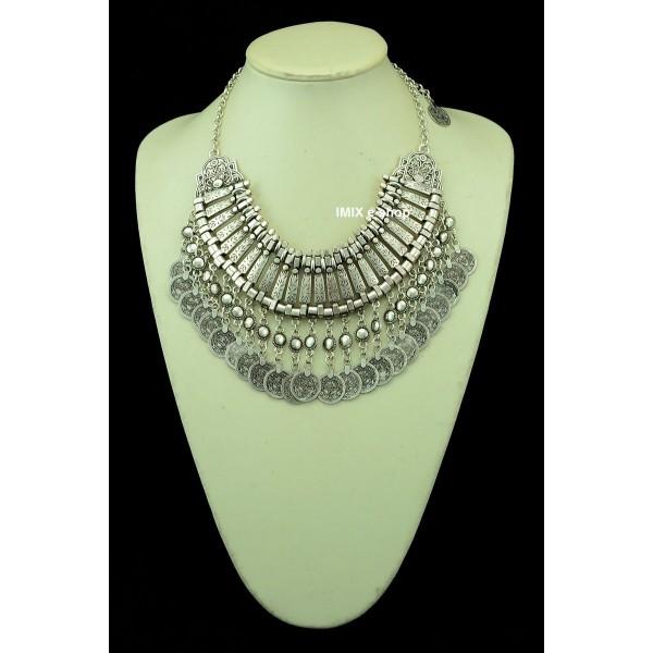 Turecký mohutný široký náhrdelník Kleopatra