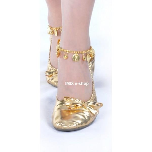 Taneční lesklé baleríny Zlaté / stříbrné