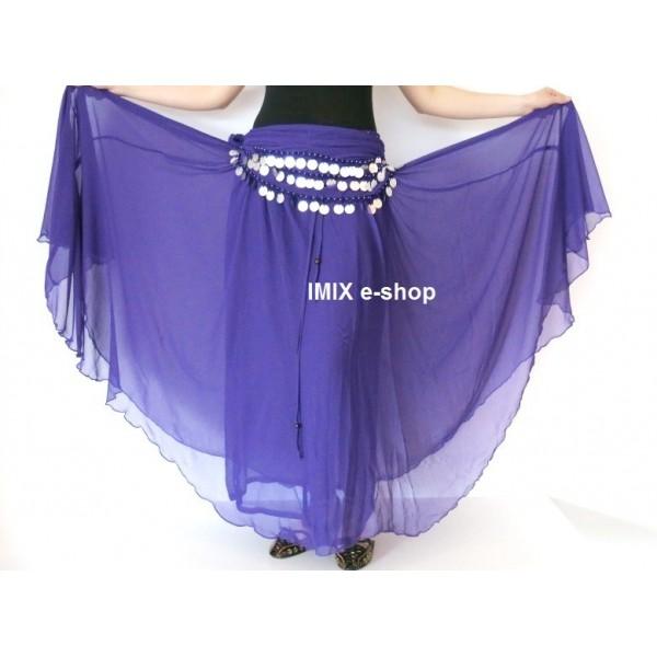 SET 2 ks- Dvouvrstvá kolová sukně Anisah + penízkový šátek