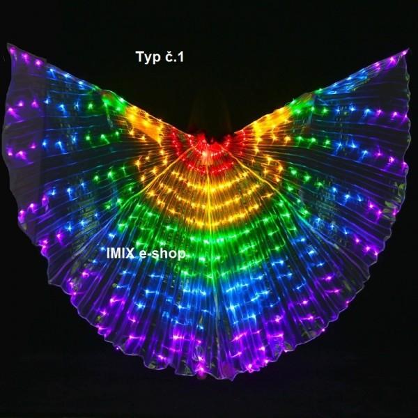 LED křídla ISIS s 300 diodami DUHOVÉ- 5 barev
