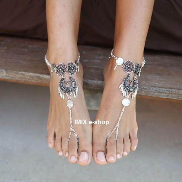 Barefoot náramek Tribal na kotník