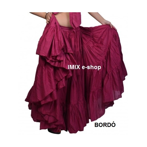 Široká sukně TRIBAL jednobarevná - 29 metrů