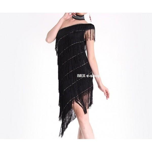 Třásňové latino šaty s doplňky Bianca