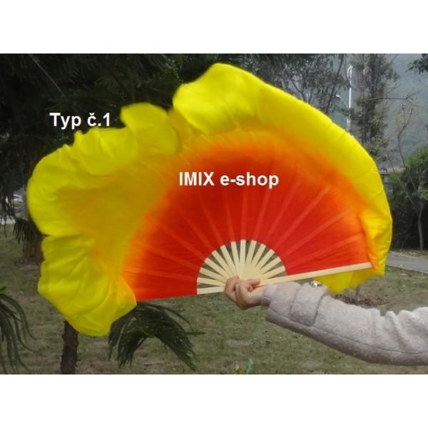 Hedvábné vějíře 30 cm s přesahem 30 cm - PÁR