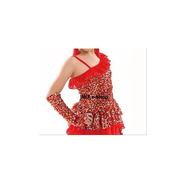 Dětské taneční flitrové latino šaty