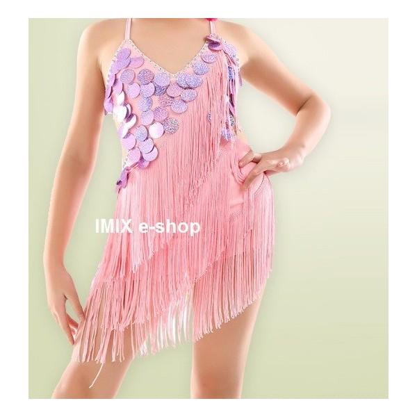 Latinsko-americké tance - šaty dívčí AMBRA