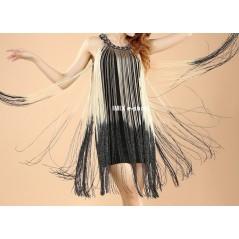 Krátké taneční šaty s dlouhými třásněmi Bella
