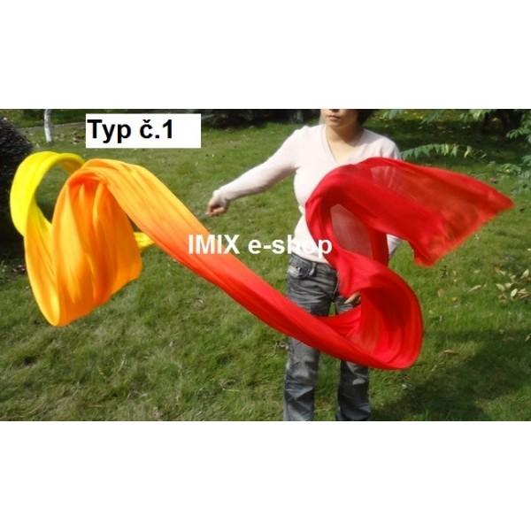 Taneční závoj na tyči mnohobarevný - 400x90 cm