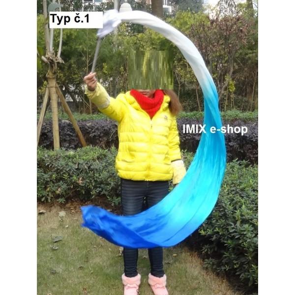 Taneční závoj na tyči mnohobarevný - 250x90 cm