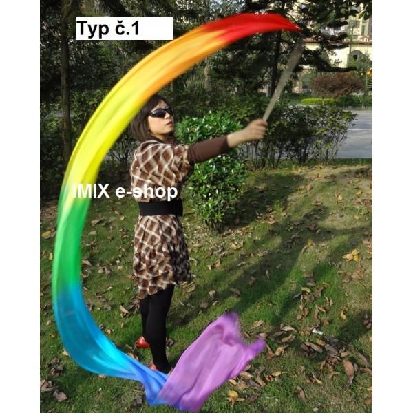 Hedvábná stuha na tyči 250x30 cm