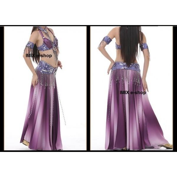 Taneční kostým Amirah s duhovou hedvábnou sukní