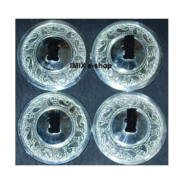Mohutné prstové činelky Profi - set (4 ks) stříbrné