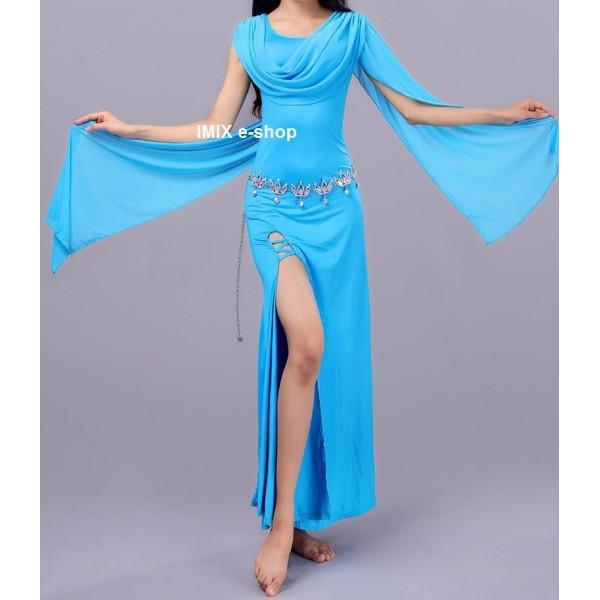Elegantní dlouhé úzké šaty se závoji Claudia