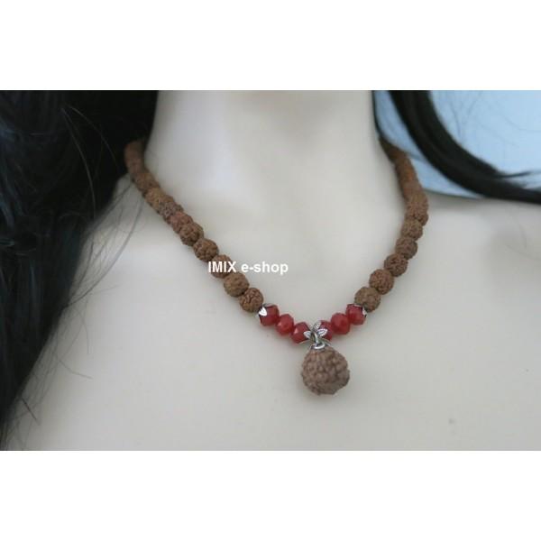 Dámský náhrdelník Rudraksha s ozdobou