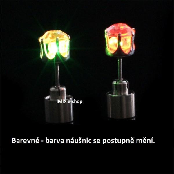 LED svítící náušnice