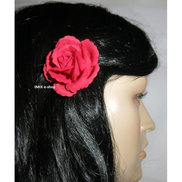 Květina Flamenco do vlasů malá na sponce
