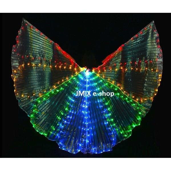LED křídla ISIS s 300 diodami VLNKY  bílá / barevná